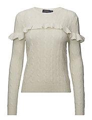 Ruffled Wool-Blend Sweater - CREAM