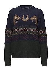 Horseshoe Fair Isle Sweater - NAVY MULTI