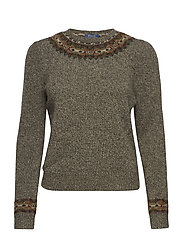 Fair Isle Wool-Blend Sweater - OLIVE MULTI