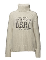 Print Wool-Blend Turtleneck - CREAM