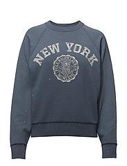 Print Fleece Pullover - STONE