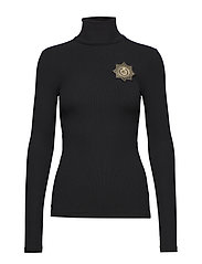 Crest Turtleneck Sweater - POLO BLACK