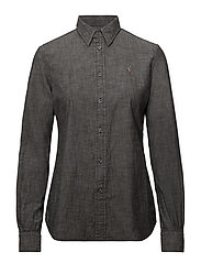 Slim Fit Chambray Shirt - BLACK
