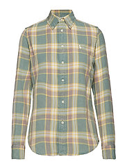 Classic Fit Plaid Cotton Shirt - 903 GREEN/YELLOW