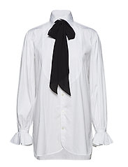 Necktie Cotton Button-Down - WHITE