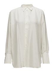 Silk Button-Down Shirt - MARSHMALLOW