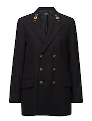 Wool Double-Breasted Blazer - AVIATOR NAVY