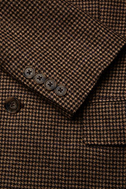 Polo Ralph Lauren - Houndstooth Tweed Blazer - suits & co-ords - brown/camel hound - 4