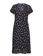 Floral Georgette Dress - ETCHING FLORAL