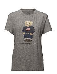 Polo Bear Cotton T-Shirt - DARK VINTAGE HEAT