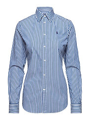 STR POPLIN STRIPES-LSL-SHT