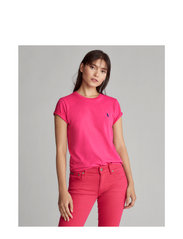 Cotton Jersey Crewneck Tee - ACCENT PINK