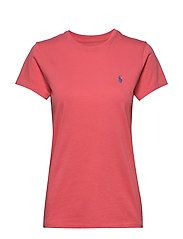 Cotton Jersey Crewneck Tee - AMALFI RED