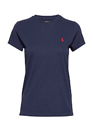 Cotton Jersey Crewneck Tee - CRUISE NAVY