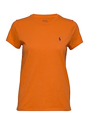 Cotton Jersey Crewneck Tee - FIESTA ORANGE