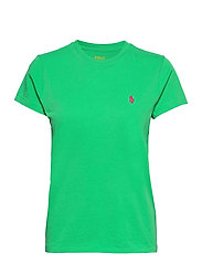 Cotton Jersey Crewneck Tee - GOLF GREEN