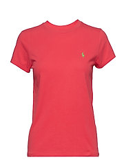 Cotton Jersey Crewneck Tee - RACING RED