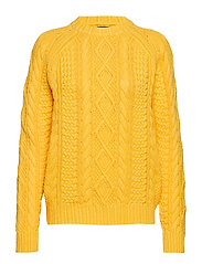 COTTON ARAN-LSL-SWT - WASHED YELLOW