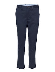 Stretch Cotton Straight Pant - AVIATOR NAVY