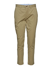 Stretch Cotton Straight Pant - BASIC OLIVE