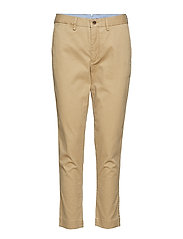 Stretch Cotton Straight Pant - LUXURY TAN