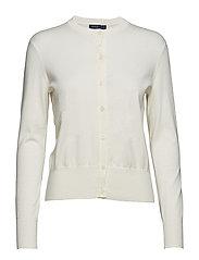 Cotton Cardigan Sweater - COLLECTION CREAM