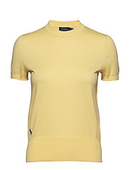 Cotton Short-Sleeve Sweater - BRISTOL YELLOW