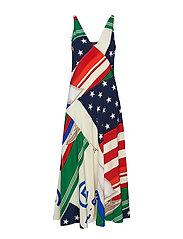 CP-93 Silk Dress - FLAG SAILBOAT PRI