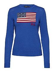 Flag Cotton Sweater - ROYAL MULTI