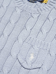 Polo Ralph Lauren - Cable Short-Sleeve Sweater - strikkede toppe - pale blue - 3