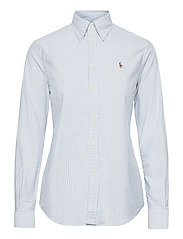 Slim Fit Cotton Oxford Shirt - BSR BLUE/WHITE
