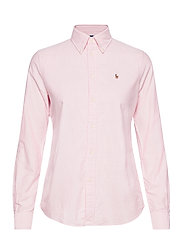 Slim Fit Cotton Oxford Shirt - BSR PINK/WHITE