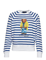 Polo Bear Striped Fleece Shirt - WHITE/PACIFIC ROY