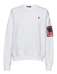 Embroidered Fleece Pullover - WHITE