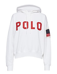 Polo Drawcord Fleece Hoodie - WHITE