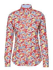 4aa1e5118 Colour  BLUE FLORAL. Print Knit Cotton Oxford Shirt  Print Knit Cotton  Oxford Shirt