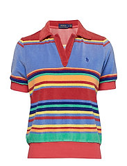 French Terry Polo Shirt - MULTI STRIPE