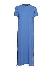 Cotton T-Shirt Dress - LAKE BLUE