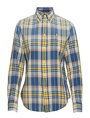 Classic Fit Madras Shirt - 106 S YELLOW/NAVY