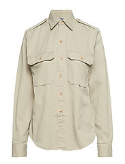 Twill Military Shirt - HAMPTON KHAKI