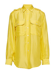 Silk Military Shirt - OPTIC YELLOW