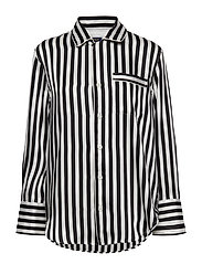 Striped Button-Down Shirt - POLO BLACK/TROPHY