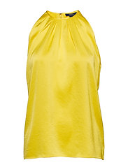 Satin Sleeveless Top - OPTIC YELLOW