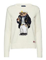Polo Bear Cotton Sweater - CREAM MULTI