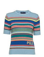 Striped Short-Sleeve Jumper - BLUE MULTI
