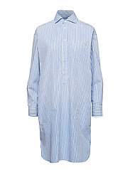 Striped Poplin Shirtdress - 112D BLUE/WHITE