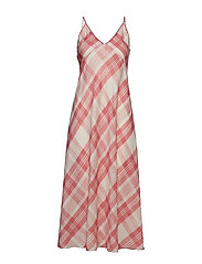 Plaid Maxidress - PINK PLAID