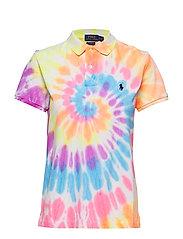 Classic Fit Tie-Dye Polo Shirt - SPIRAL TIE DYE