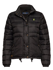 Quilted Down Jacket - POLO BLACK