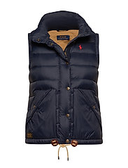 Nylon Down Vest - AVIATOR NAVY